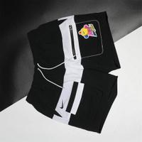 【滿千折百優惠開跑】NIKE 短褲 NSW HYPERFLAT 黑白 可愛圖案 抽繩 拼接 工裝 男 (布魯克林) DM7919-014