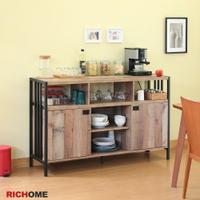 餐櫥櫃 廚房櫃 電器櫃 收納櫃 碗盤櫃 工業風  【RICHOME】DR226  《漢克雙門餐櫃》