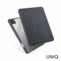 【UNIQ】New iPad Pro 12.9 5代 2021 Moven 皮革抗菌磁吸帶筆槽透明平板保護套