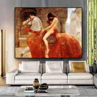 Woman Canvas Painting Posters | Godiva by John Collie, Scandinavian Pop Art Wall Painting, for Living Room Decor