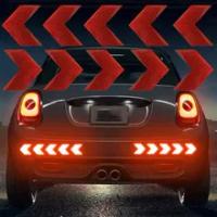 10 Pcs/Set Car Sticker Reflective Arrow Sign Tape Warning Safety Sticker For Car Bumper Trunk Reflector Hazard Tape Car Styling