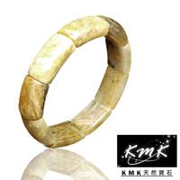 【KMK天然寶石】65.5g(滿絲雜絲天然鈦晶-弧面手排)