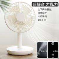 【KOYAMAKI】循環桌面電風扇(大風量 超靜音 充電式超長續航 四檔風 定時)
