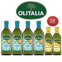 【Olitalia 奧利塔】玄米油1000mlx4瓶(+頂級葵花油500mlx2瓶-禮盒組)