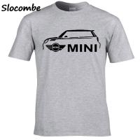 男士 T 恤最新款式 Mini Cooper Print 汽車男士個性圖形灰色