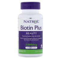 現貨【美國直送】Natrol Biotin Plus 生物素 5000mcg 60片 含葉黃素 biotin現貨