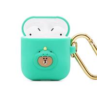 【GARMMA】AirPods 1/2代 LINE FRIENDS 藍牙耳機盒保護套 -恐龍熊大