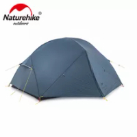 Naturehike Mongar กันน้ำ2คนเต็นท์ Ultralight 15D ไนลอนผ้า Double Layer Camping กลางแจ้งเต็นท์ NH19M002-J