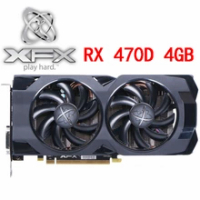 XFX RX 470D 4GB Video Card 256Bit GDDR5 Graphics Cards for AMD RX 400 series VGA Cards RX 470D 4G 570 580 480 HDMI DVI Used