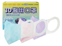 順易利 成人3D立體醫用口罩(50入)素色紫 醫療口罩【小三美日】◢DS001526