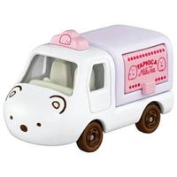 小禮堂 TOMICA多美小汽車 角落生物 造型小貨車 食物攤車 玩具車 模型車 (白 北極熊)