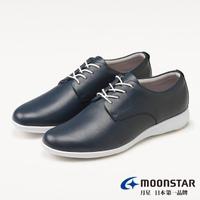 【MOONSTAR 月星】BIZ-LITE系列-3E寬楦輕快流暢休閒鞋(深藍)