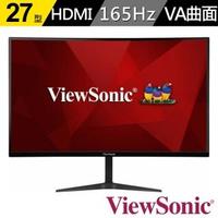 【ViewSonic 優派】VX2718-PC-MHD 27型VA 曲面電競螢幕(16:9/曲面/165Hz/HDMI/含喇叭)