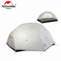 Naturehike 3 Season Mongar Campingเต็นท์ 20Dผ้าไนล่อนไนล่อนกันน้ำDouble Layerเต็นท์สำหรับ 2 คนNH17T007-M