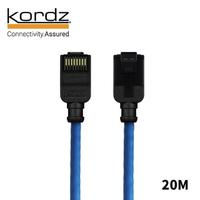 【Kordz】PRO CAT6 28AWG極細高速網路線(藍色20米)