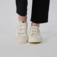 【moz】瑞典 厚底駝鹿魔鬼氈帆布餅乾鞋(百搭白)