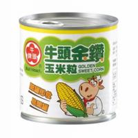 (全台宅配免運費) 牛頭牌 金鑽 玉米粒 「大罐 340g」x24罐/箱 、