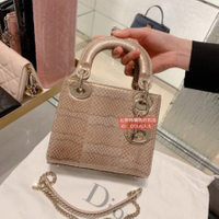 歐洲全新正品 Dior 迪奧 LADY DIOR頂級小羊皮迷你包 限量 手提包 肩背包