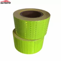 (50 Rolls / Lot ) 25m*7.5cm Car Motorcycle Reflective Strip Fluorescence Yellow Reflective Tape Sticker Car Exterior Accessories