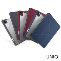 【UNIQ】iPad Pro 11 2021 Moven 皮革抗菌磁吸帶筆槽透明平板保護套