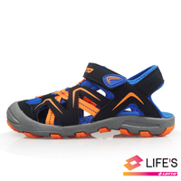 LOTTO樂得-義大利第一品牌 童款護趾運動涼鞋 [1826] 藍【巷子屋】