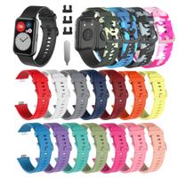 Huawei watch Fit 矽膠錶帶 適用於華為 watch Fit 運動矽膠錶帶 智能手錶 更換腕帶