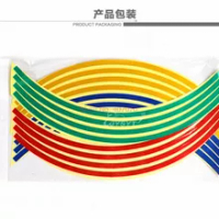 by DHL or Fedex 1000sets Car Sticker Strips Wheel Stickers Reflective Tape Decals 18Inch Bike Motorcycle Tire Safety Reflector
