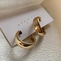 2020แนวโน้ม Minimalist ทองเงินสีโลหะวงกลมขนาดใหญ่เรขาคณิตรอบใหญ่ต่างหูสำหรับงานแต่งงานของผู้หญิง...