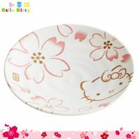 SKATER 三麗鷗 凱蒂貓 Hello Kitty 陶瓷和皿 陶瓷盤 小盤手繪櫻花 日本進口正版 313240