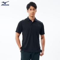 【MIZUNO 美津濃】男款短袖POLO衫 32TA002009(黑)(POLO衫)