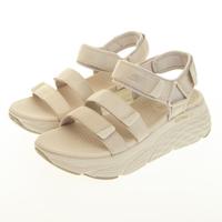 【SKECHERS】女 健走系列涼拖鞋 MAX CUSHIONING SANDAL(140218NAT)