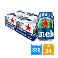 【Heineken 海尼根】海尼根0.0零酒精 330ml鋁罐裝 24入(無酒精)