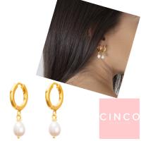 CINCO 葡萄牙精品 Claire earrings 24K金耳環 迷你珍珠耳環