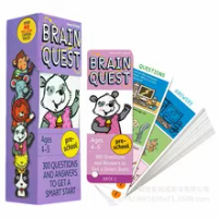 1BOX BRAIN QUEST english children's study cards books 4-5 years old ages Children's Book-of-the Month Club