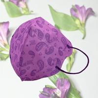 成人3D醫用口罩(紫羅蘭變形蟲)細耳帶-30入 / 單片包裝