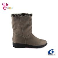 Moonstar月星日本防水靴 雪靴 成人女款 低調優雅時尚發熱機能中筒靴 I9606#灰色 奧森