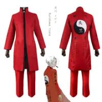 Kostum Cosplay Anime Tokyo Revenggers Izana Kurokawa Celana Trench Tenjiku Choker Seragam Presiden Tenjiku Merah untuk Dewasa Mikey