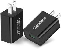 【日本代購】Gigastone 2個套裝 18W USB 2Pack 快充器 QC3.0 3A充電器 黑色