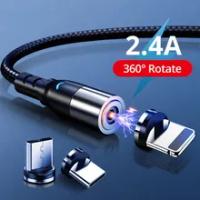 Magnetic Micro USB Tipe C Kabel untuk iPhone Xiaomi Samsung Ponsel Tablet Cepat Pengisian USB Kabel Charger Magnetic Wire kabel