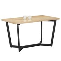 【AT HOME】歐丁4.3尺栓木本色黑腳餐桌