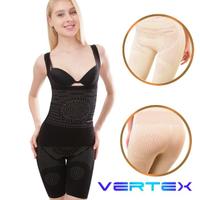 【VERTEX】遠紅外線電氣石能量極塑身短褲1入(黑/膚)