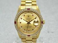 ROLEX錶 勞力士 18238 星期日誌 LR面盤 18K金 編號:A69200