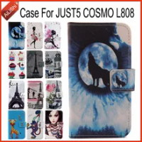 AiLiShi Factory Direct! Case For JUST5 COSMO L808 Luxury Flip PU Leather Case Exclusive 100% Special Phone Cover Skin+Tracking