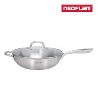 【NEOFLAM】不銹鋼316炒鍋32cm(含玻璃蓋)