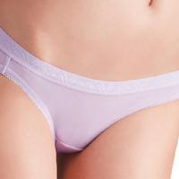 【Wacoal 華歌爾】新伴蒂內褲M-LL超低腰三角款(迷迭紫)