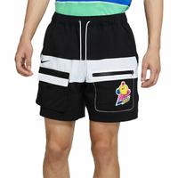 NIKE S M NSW HYPERFLAT WVN SHORT 短褲 拼接 可愛圖案 黑白 男生【DM7919-014】