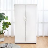 【BODEN】防潮防蛀 防水塑鋼2.2尺上掀收納二門鞋櫃(白色)