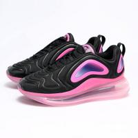 KUMO SHOES-現貨 NIKE AIR MAX 720 GS 黑粉 全氣墊 慢跑鞋 大童鞋 女鞋 運動 百搭 AQ3196007