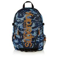開幕慶 正品 極度乾燥 Superdry Backpack 後背包 背包 書包 筆電包 輕量 網眼 運動包 藍迷彩 螢光橘Logo