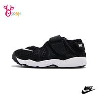 NIKE忍者鞋 運動涼鞋 男女童運動鞋 LITTLE RIFT 透氣魔鬼氈 大童/女鞋可穿 Q7133#黑色◆奧森